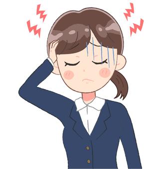Headache, women, woman
