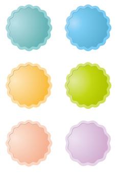 Pastel color button 3