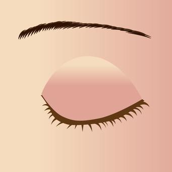 여성의 눈매 - 닫기