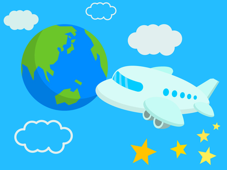 비행기와 지구