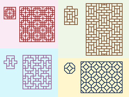 Pattern - Chinese pattern - Group lattice