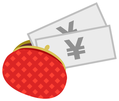 Pamper wallet and money (red · check