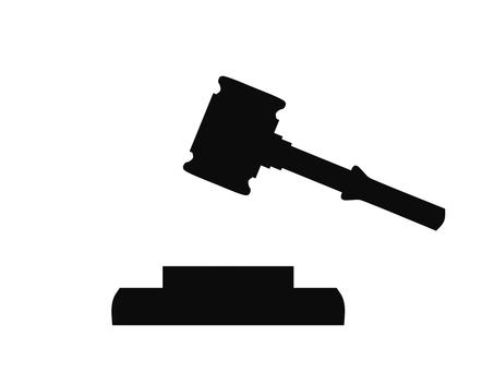Auction Hammer Judge Black