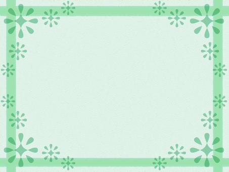 Background Frame Green Flower 02