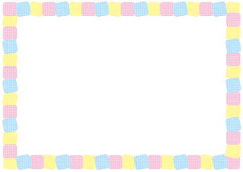 Frame - diagonal block - colorful