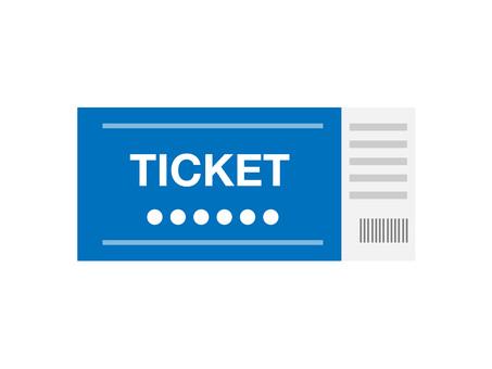 Ticket (blue · 1 sheet)