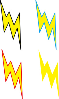 Lightning thunder lightning mark icon