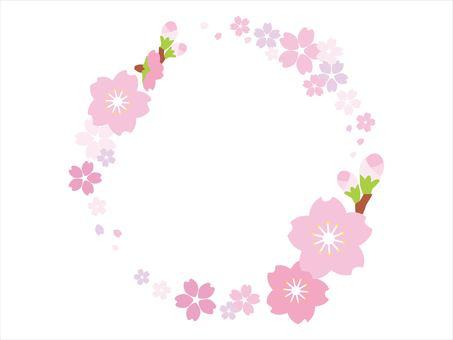 Sakura circle frame