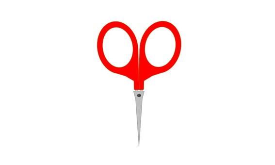 Small scissors red