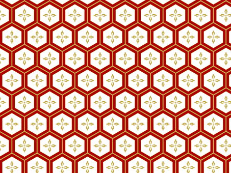 ai japanese pattern turtle shell and flower rhombus background 3