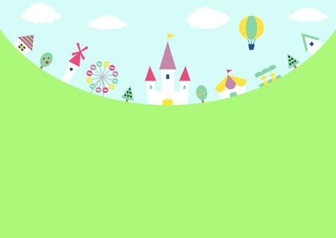 Amusement park landscape