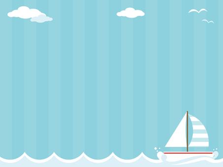 Yacht decorative frame 2