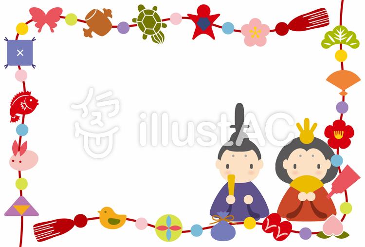 ひな祭りフレームイラスト No 363545無料イラストならイラストac