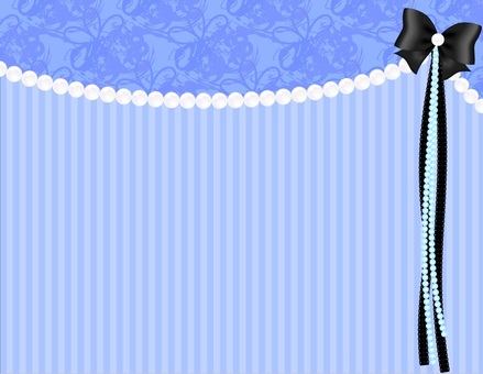 Pearl Ribbon Background _ Blue