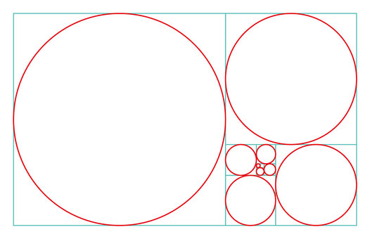 Golden ratio circle