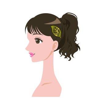 Arrange hair