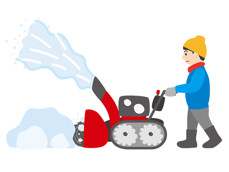 Snow removal work