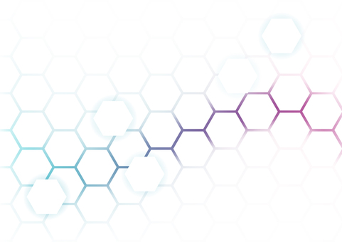 Blue purple network hexagon abstract background material