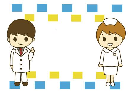 Doctor and nurse frame