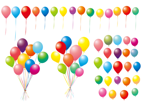 Balloon set balloon set colorful illustration