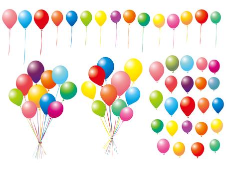 บอลลูนชุดบอลลูนชุดภาพประกอบที่มีสีสัน