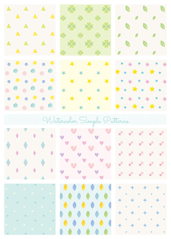 Watercolor style simple pattern