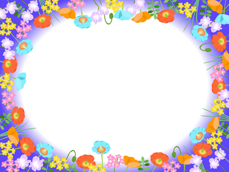 Various flower frame 04