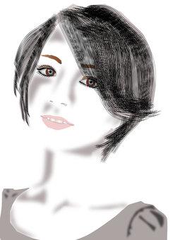 Short hair woman 01