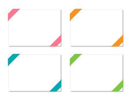Message card-ribbon
