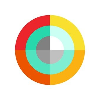 Flat icon colorful circle
