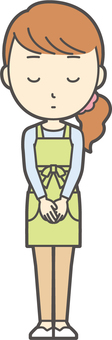 Apron youth long hair-037-whole body