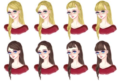 """Girl's hair style """"Half Up A"""""""