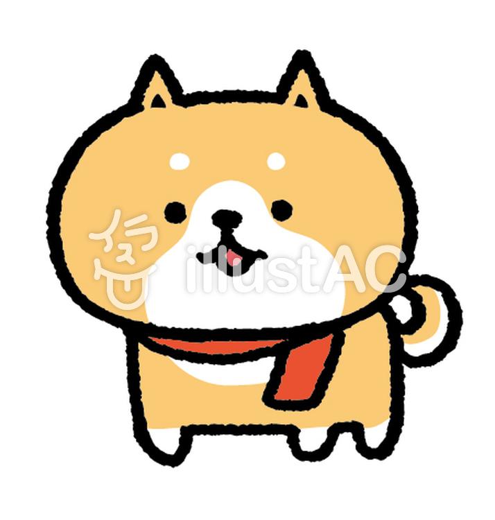 ゆるいいぬ 柴犬 マフラーイラスト No 977032無料イラストなら