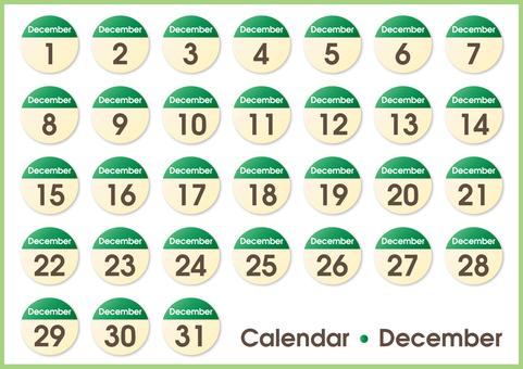 Calendar circle December