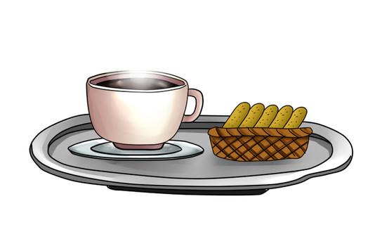 咖啡和餅乾