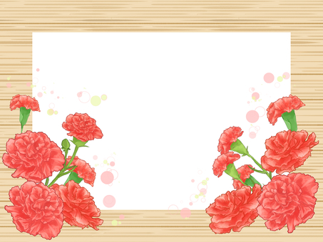 Wood grain frame (carnation) 03