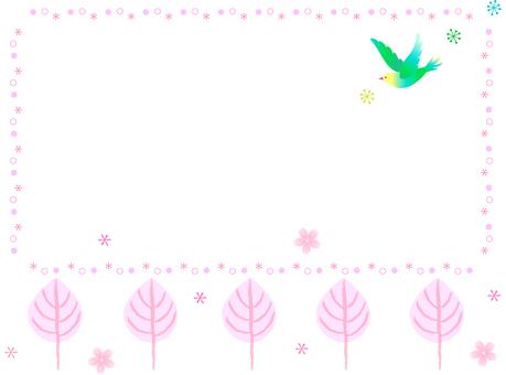 벚꽃과 새 프레임