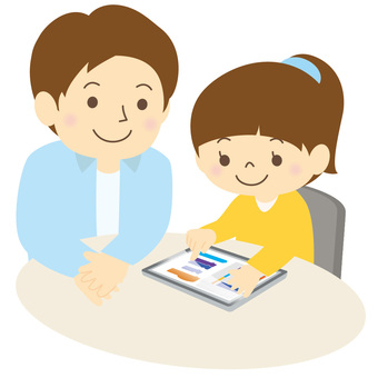 Children and adults using tablet -04