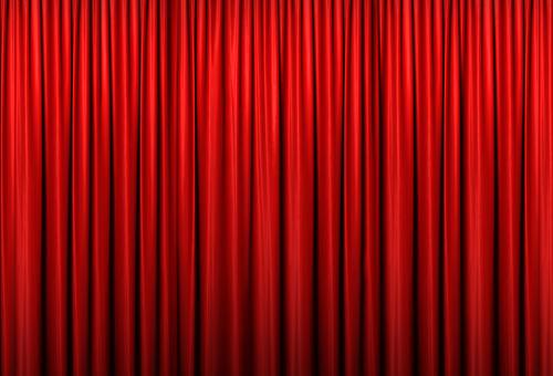 紅色的窗簾06
