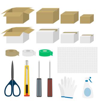 Moving cardboard set