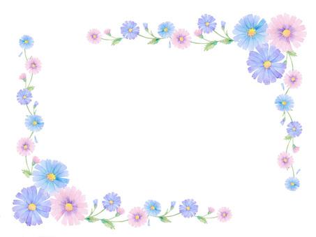 Flower decoration frame ★ 0425-F