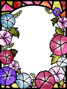 Stained glass frame morning glory 2