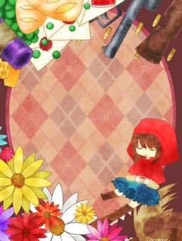 Little Red Riding Hood frame girly