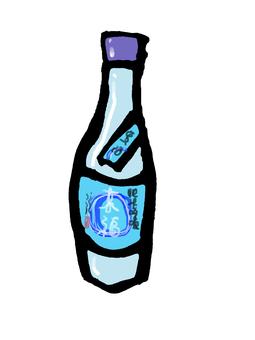 夏の酒一升瓶