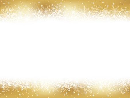 Seamless snow background golden