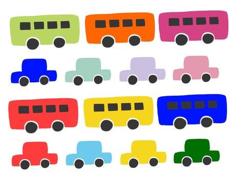 Car Auto Bus Colorful Set