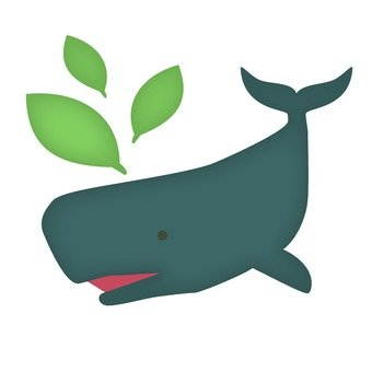 Whale and leaves