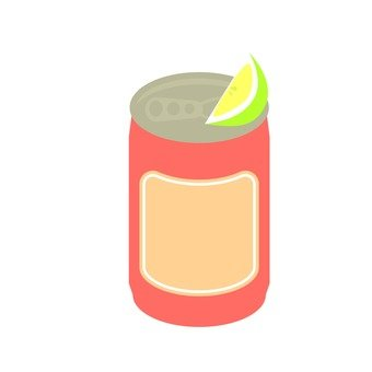 Canned beer and lime