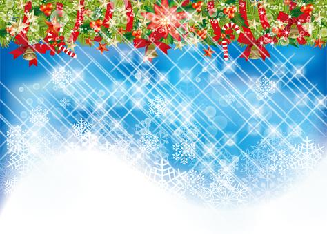 Christmas wreath & snow 31