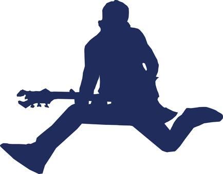 기타리스트 실루엣